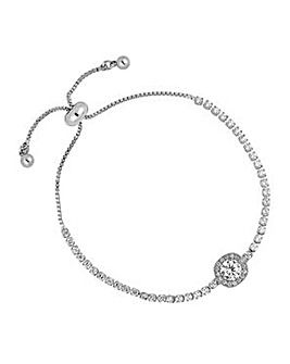 Jon Richard Silver clara toggle bracelet