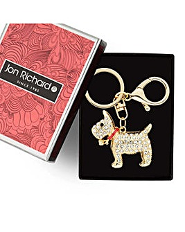 Jon Richard Gold scotty dog keyring