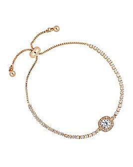 Jon Richard Rose gold toggle bracelet