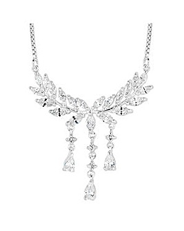 Jon Richard Silver leaf droplet necklace