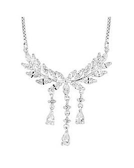 Jon Richard Silver leaf droplet necklace