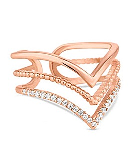 Jon Richard Rose gold arrow ring