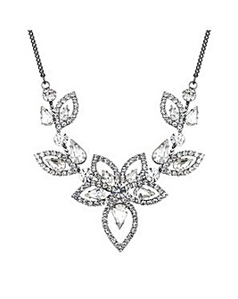 Jon Richard Silver floral necklace
