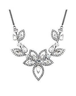 Jon Richard Silver floral necklace
