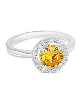 Jon Richard Yellow halo ring