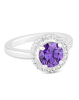 Jon Richard Purple halo ring