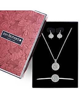 Jon Richard circle jewellery set