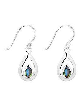 Simply Silver abalone teardrop earring