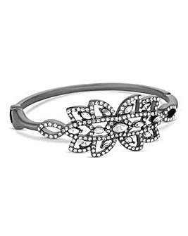 Jon Richard Silver crystal floral bangle