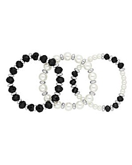 Jon Richard Monochrome bracelet set