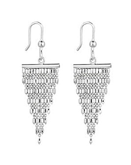 Simply Silver tassel drop earring