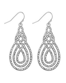 Jon Richard Silver swirl drop earring