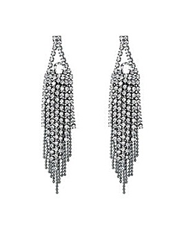 Jon Richard Silver tassel drop earring