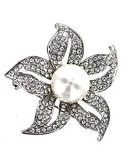 Lizzie Lee Pearl Flower Brooch
