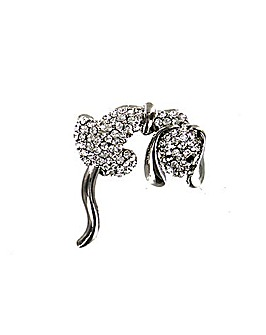 Diamante Dog Brooch