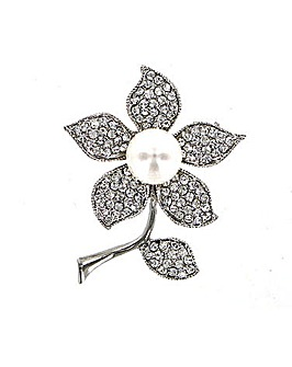 Full Flower Pearl Flower Brooch