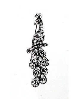 Lizzie Lee Peacock Brooch