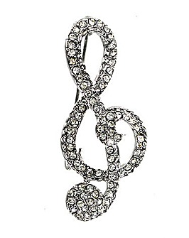 Treble Clef Fashion Brooch