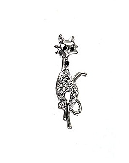 Elegant Cat Brooch