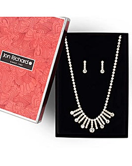 Jon Richard gold diamante jewellery set