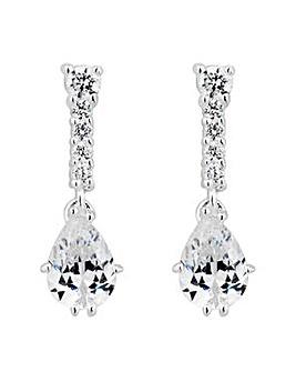 Simply Silver peardrop drop earring