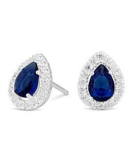 Simply Silver blue peardrop earring