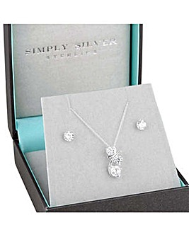 Simply Silver garland jewellery set