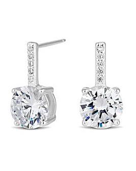 Simply Silver drop earring