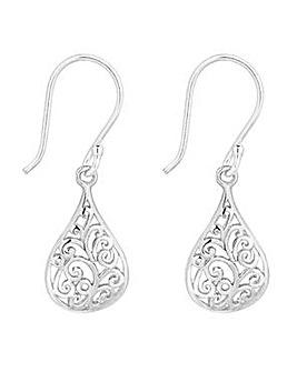 Simply Silver teardrop earring