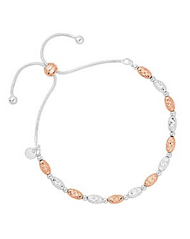 Simply Silver two tone toggle bracelet