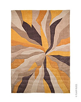 Hand-carved Abstract Design Rug