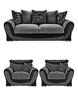 Renata Three Seater plus Two Chairs
