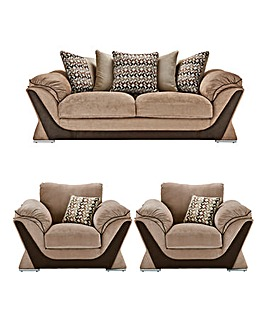 Oregon Three Seater Sofa plus Two Chairs