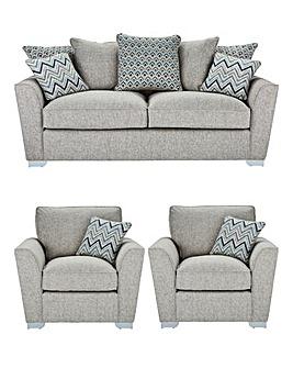 Maya Three Seater Sofa plus Two Chairs