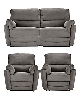 Harmony Three Seater Sofa and Two Chairs