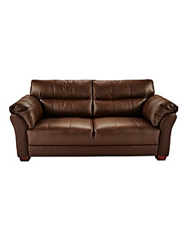 Ancona Leather Three Seater Sofa