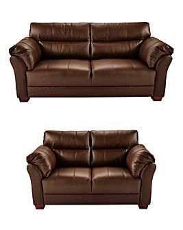 Ancona Leather 3 Seater plus 2 Seater