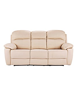 Roma Leather Recliner Three Seater Sofa