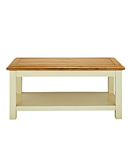 Taunton Oak and Oak Veneer Coffee Table