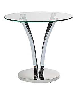 Moritz Chrome and Glass Side Table