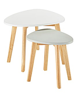 Scandi Nest of 2 Tables