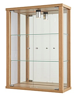 Wallmounted Glass Display Unit and Light