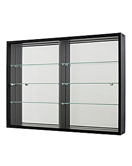 Wallmounted Glass Display Unit Mirror