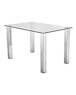 Primo Rectangular Glass Dining Table