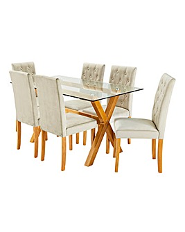 Albany Dining Table and 6 Grace Chairs