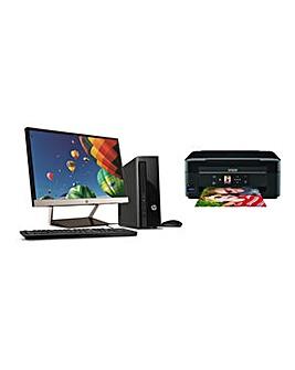 HP Desktop, Printe & Monitor
