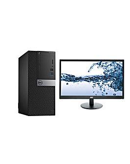 Dell PC Pentium 4GB 500GB Win Pro Bundle