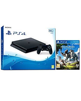 PS4 Slim500GB Console  Horizon Zero Daw