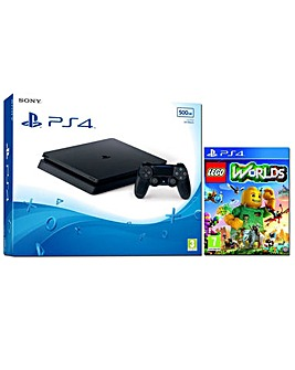 PS4 Slim 500GB Console  Lego Worlds