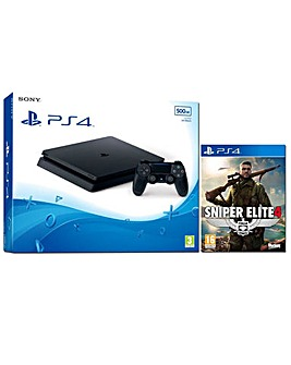 PS4 Slim 500GB Console  Sniper Elite 4